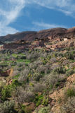 The agriculture in Gorges du Dades city, Morocco Royalty Free Stock Image