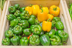 Agriculture harvested products on wooden box.  Royalty Free Stock Image