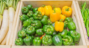 Agriculture harvested products on wooden box Stock Photography