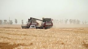 Agriculture and harvester stock video