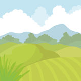 Agriculture icon. Landscape concept. Vector graphic Royalty Free Stock Image