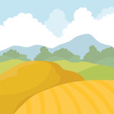 Agriculture icon. Landscape concept. Vector graphic Royalty Free Stock Photography