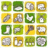 Agriculture Icon Set Royalty Free Stock Image