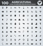 Agriculture icon set. Agriculture icons for web and user interface design stock illustration