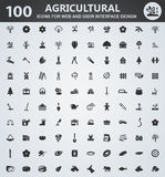 Agriculture icon set. Agriculture icons for web and user interface design vector illustration