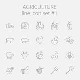 Agriculture icon set Stock Photos