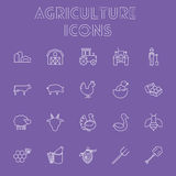 Agriculture icon set. Stock Image