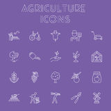 Agriculture icon set. Royalty Free Stock Image