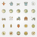 Agriculture icons collection Stock Photo