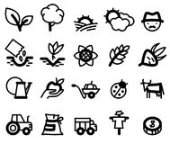 Agriculture icons Stock Images