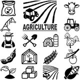 Agriculture icons Royalty Free Stock Image