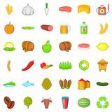 Agriculture icons set, cartoon style. Agriculture icons set. Cartoon style of 36 agriculture vector icons for web isolated on white background Stock Photography