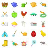 Agriculture icons set, cartoon style. Agriculture icons set. Cartoon set of 25 agriculture vector icons for web isolated on white background Stock Photo