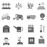 Agriculture Icons Set Stock Photo
