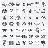 Agriculture icons set. Stock Images