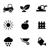 Agriculture 9 icons set Stock Image