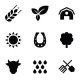 Agriculture 9 icons set Stock Images