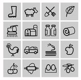 Agriculture icons set Royalty Free Stock Images