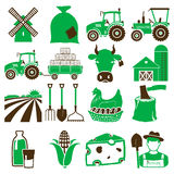 Agriculture icons Royalty Free Stock Photography