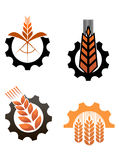 Agriculture icons and smbols Royalty Free Stock Photo
