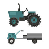 Agriculture industrial farm equipment machinery tractor combine and excavator rural machinery corn car harvesting wheel Royalty Free Stock Photography