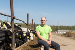 Agriculture industry, farming, people and animal husbandry Stock Photo