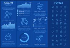 Agriculture infographic template, elements, icons. Royalty Free Stock Photography