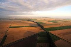 AGRICULTURE LAND FROM THE SKY IN GERMANY Royalty Free Stock Photos
