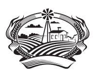 Agriculture landscape stock illustration