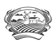 Agriculture landscape icon Royalty Free Stock Images