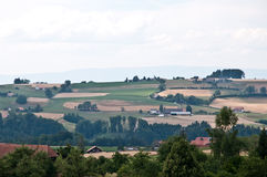 Agriculture landscape of Swiss in beautiful light Stock Photos