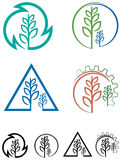 Agriculture logo set Stock Image