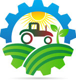 Agriculture logo. A vector drawing represents agriculture logo design stock illustration