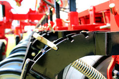 Agriculture machine. Big machine to work in the agriculture field Royalty Free Stock Image