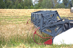 Agriculture machine works on field Royalty Free Stock Image