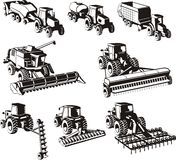 Agriculture machines set Royalty Free Stock Images