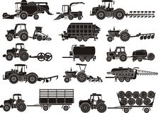 Agriculture machines set Stock Images