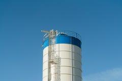 Agriculture. modern silos for storing grain harvest Stock Photos