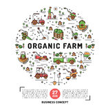 Agriculture and organic farm fresh design card template Stock Photo