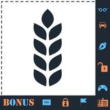 Agriculture icon flat royalty free illustration