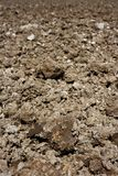 Agriculture plough plow clay soil perspective Royalty Free Stock Image