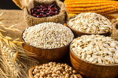Agriculture products,grains and cereal Royalty Free Stock Photo