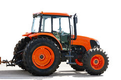 Agriculture red tractor Stock Photography