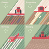 Agriculture seasons Royalty Free Stock Photos