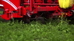 Agriculture seeding tractor stock video footage