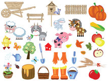 Agriculture , set icons Stock Photos