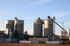 Agriculture silos stock image