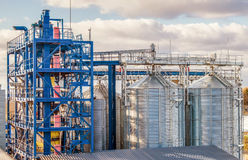 Agriculture. silos for storing grain Stock Images