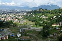 Agriculture site of kathmandu. stock images