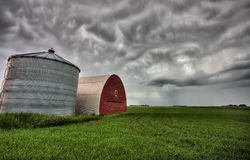 Agriculture Storage Bins Stock Image